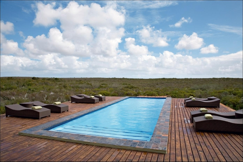 Builders Trade Depot Vredenburg (022 713 1221). Builders Trade Depot provided Elandsfontein Private Nature Reserve with this striking timber deck. Measuring 21mm x 105mm, this CCA treated pine timber decking is perfectly suited to the typical West Coast weather conditions. CCA treated timber has a unique finish as well as tone, offering protection against outdoor weathering.