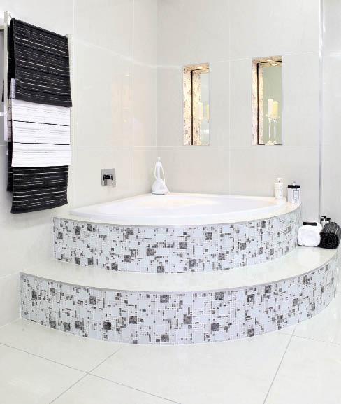 Tile style for Bathroom designs za