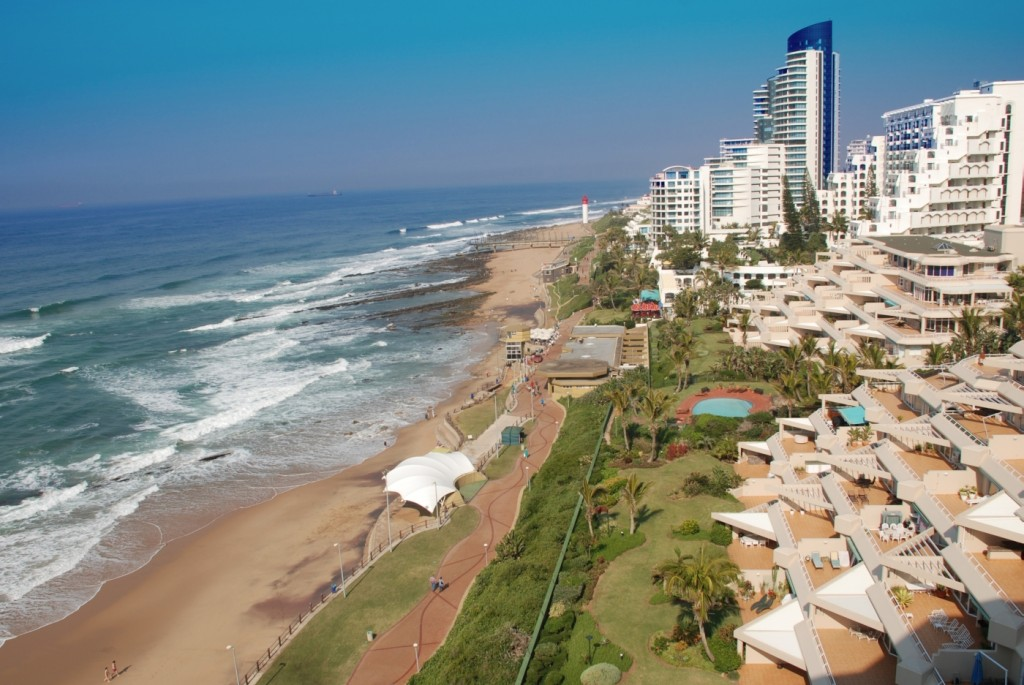 Aerial view of Umhlanga