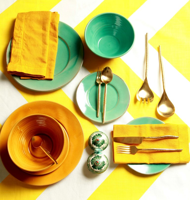 Sarah Ord cutlery and crockery set