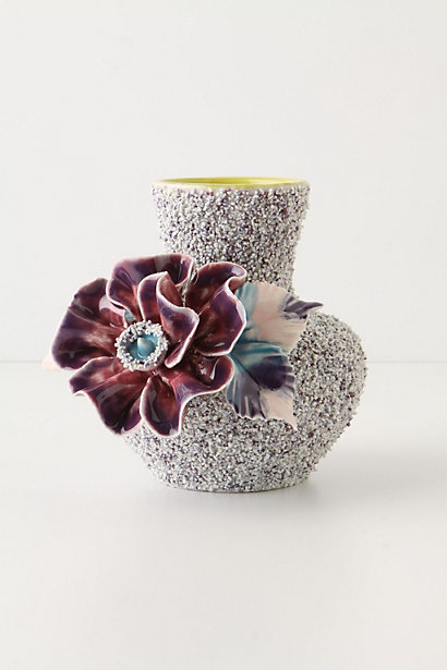Anthropolgie Speckled Petunia Vase