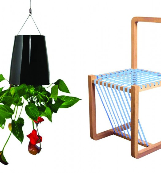 Sky Blue Layer Chair (R2 595) and Boskke Mini Sky Planter. Available at Smacs.co.za
