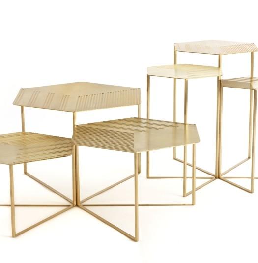 Hex Coffee & Side Tables, Designed by Haldane Martin, Photo Micky Hoyle