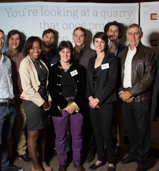 The finalists of the 2012 Corobrik Architectural Student of the Year are pictured with the judges.
