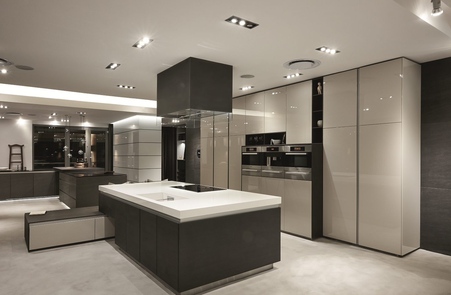 kitchen designs in johannesburg.  New blu line showroom at Design Quarter
