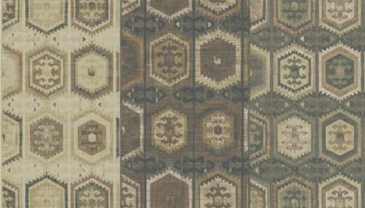 Geometric kelim rugs