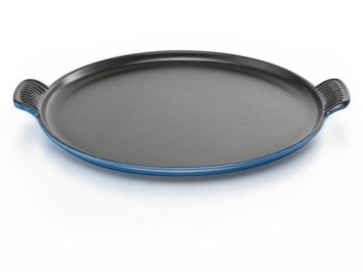 Le Creuset Cast Iron Pizza Pan in Marseille Blue
