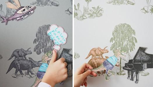 Dino magnetic wallpaper