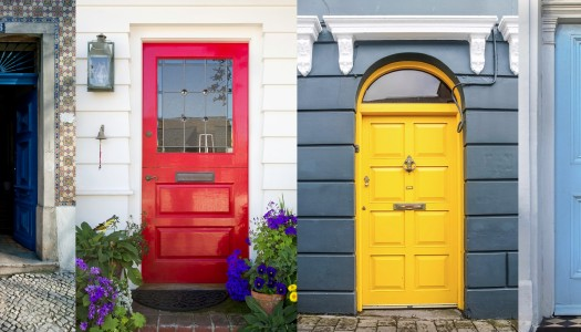 How to choose a front door paint colour