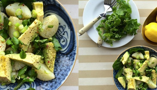 Zesty potato and avocado salad