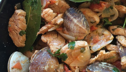 Portuguese-style pork and clam stew