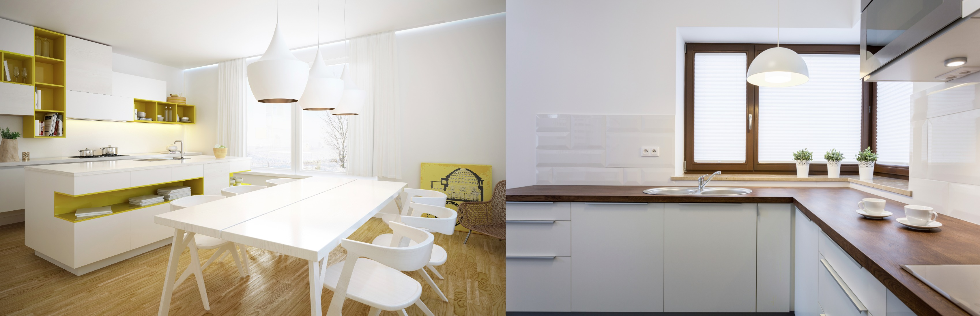 All white kitchens the pros and cons for Pros and cons of white kitchen cabinets