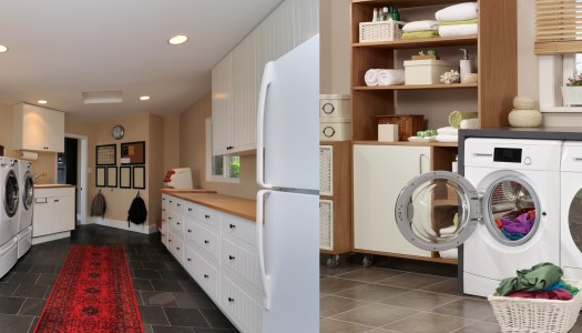 The organised laundry room