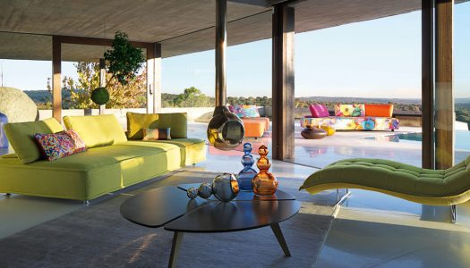 Outdoor lounges: The Escapade sofa by Roche Bobois