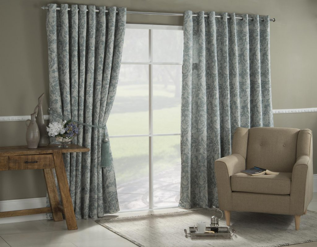 gray eyelet curtains apartment design living ideas room hue of curtain the modern in for small