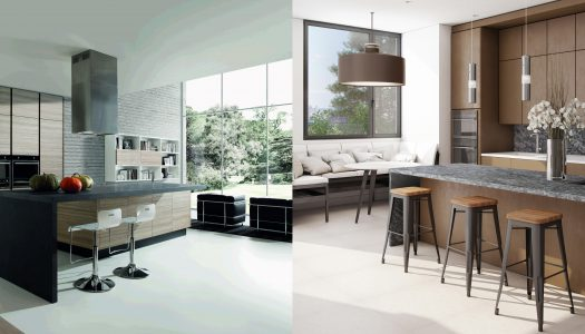 Contemporary kitchen countertops