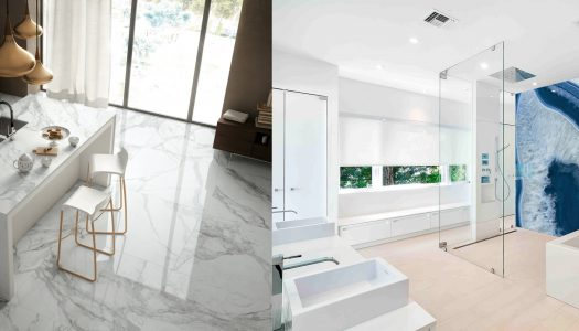 Beautiful surfaces from Ferreiras Tile + Bathroom