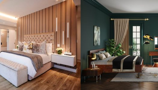 Boutique-style bedrooms
